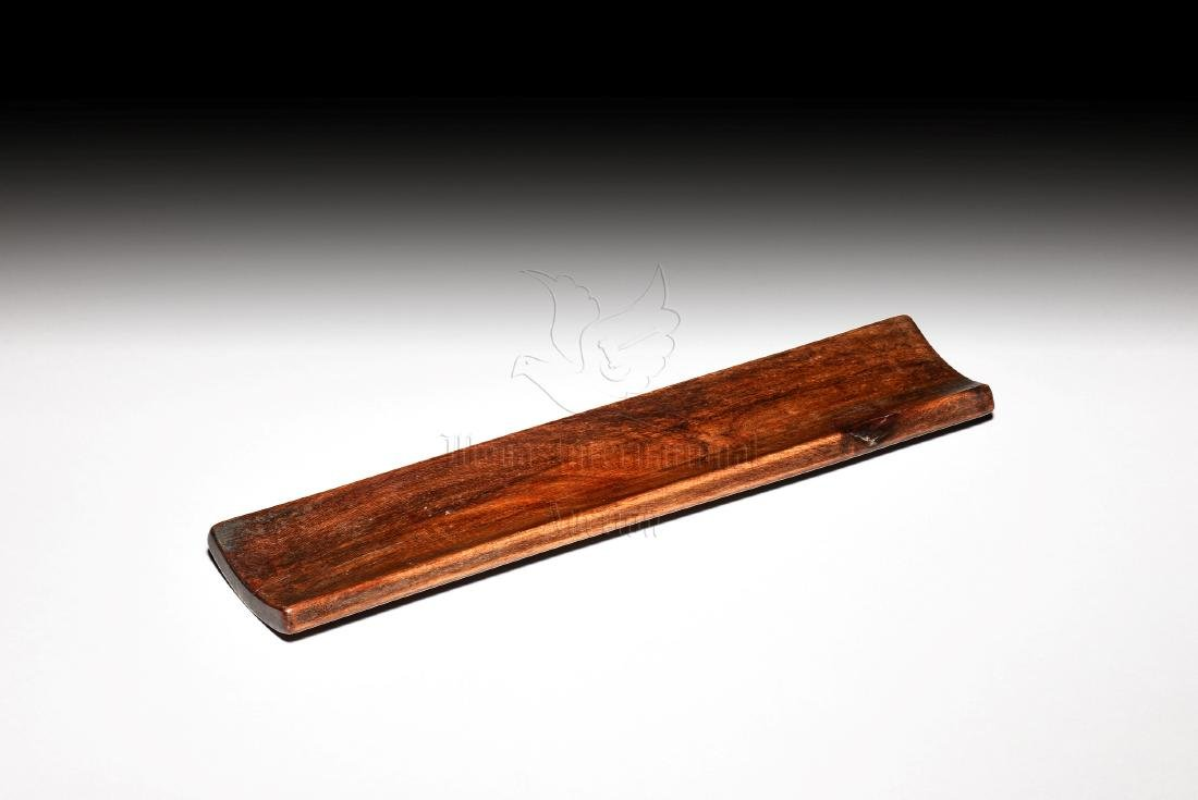 BAMBOO CARVED 'FLOWERS' WRIST REST - 2