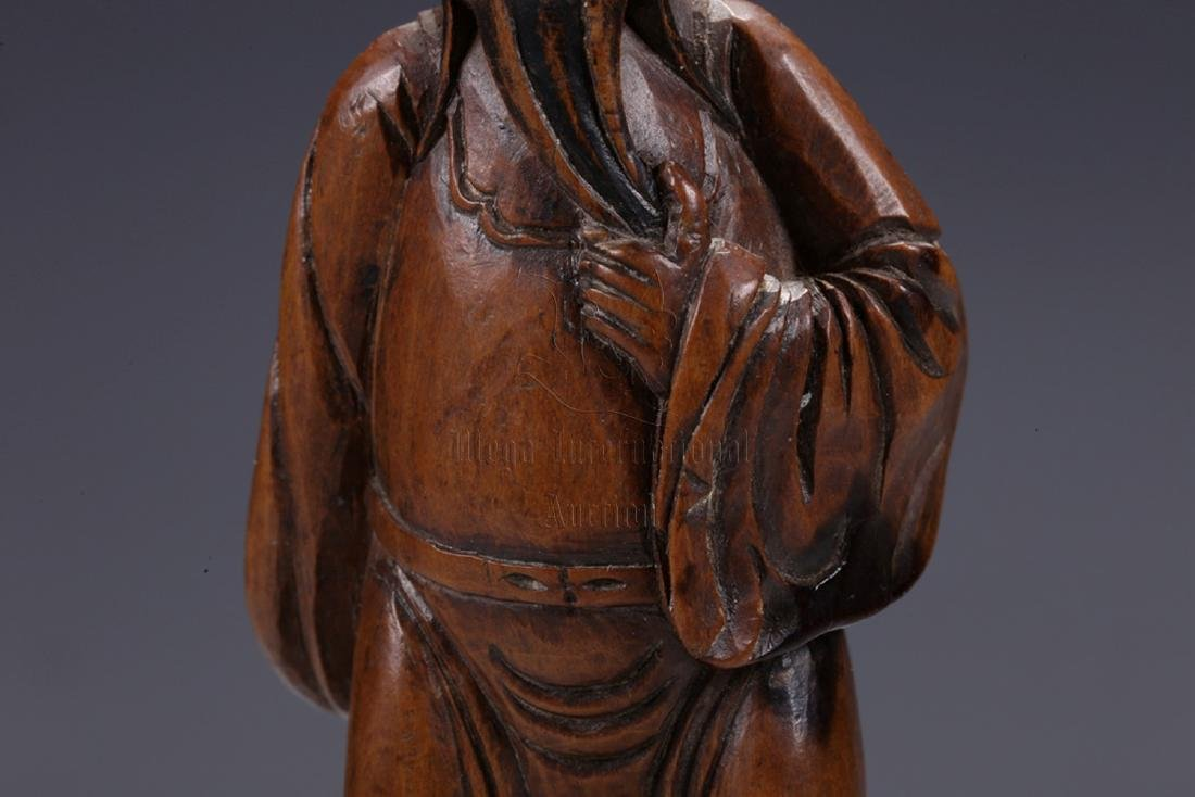HUANGYANGMU WOOD CARVED 'COURT OFFICIAL' STANDING - 5