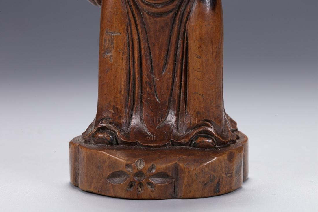 HUANGYANGMU WOOD CARVED 'COURT OFFICIAL' STANDING - 6