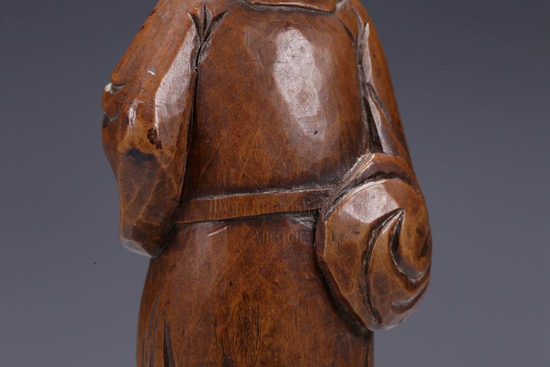 HUANGYANGMU WOOD CARVED 'COURT OFFICIAL' STANDING - 8
