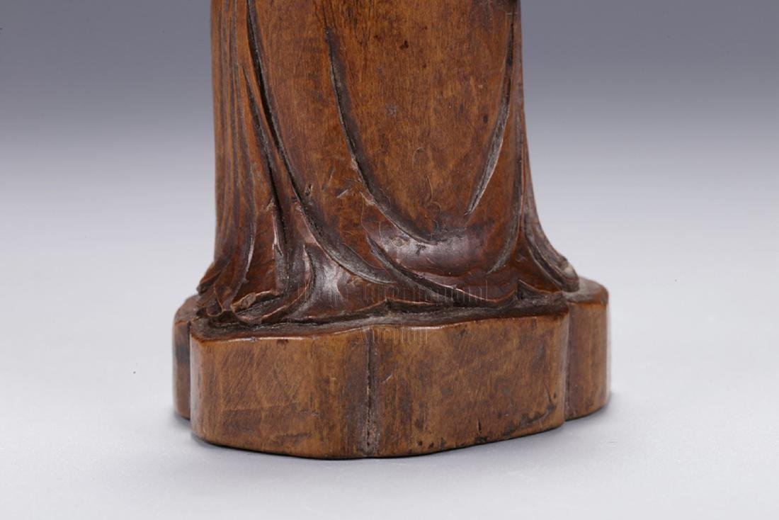 HUANGYANGMU WOOD CARVED 'COURT OFFICIAL' STANDING - 9