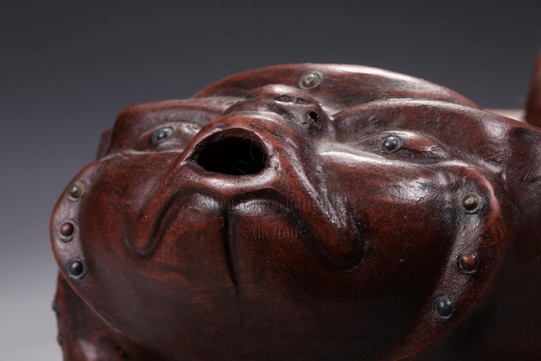YIXING ZISHA 'MYTHICAL BEAST' TEA PLATE - 3