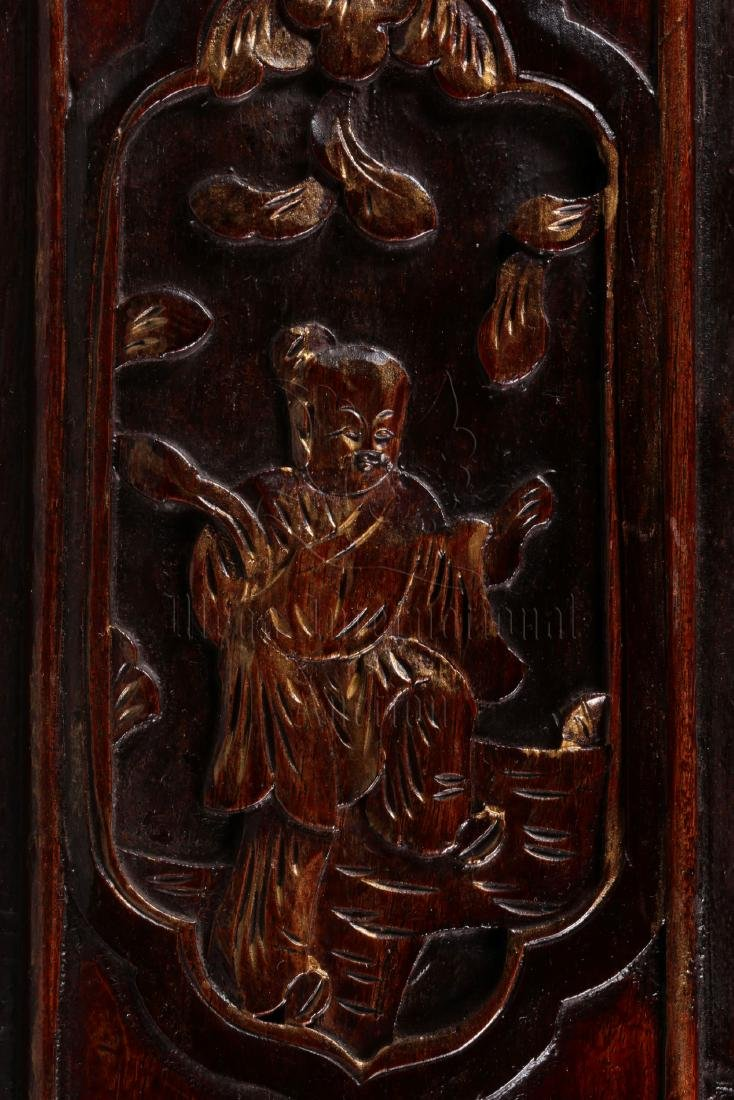 PAIR OF GILT WOOD CARVED 'CHILDREN' PLAQUES - 4