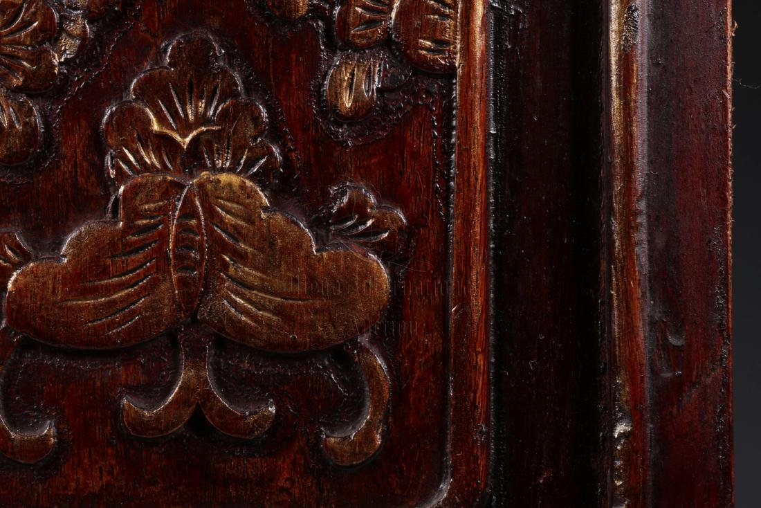 PAIR OF GILT WOOD CARVED 'CHILDREN' PLAQUES - 6