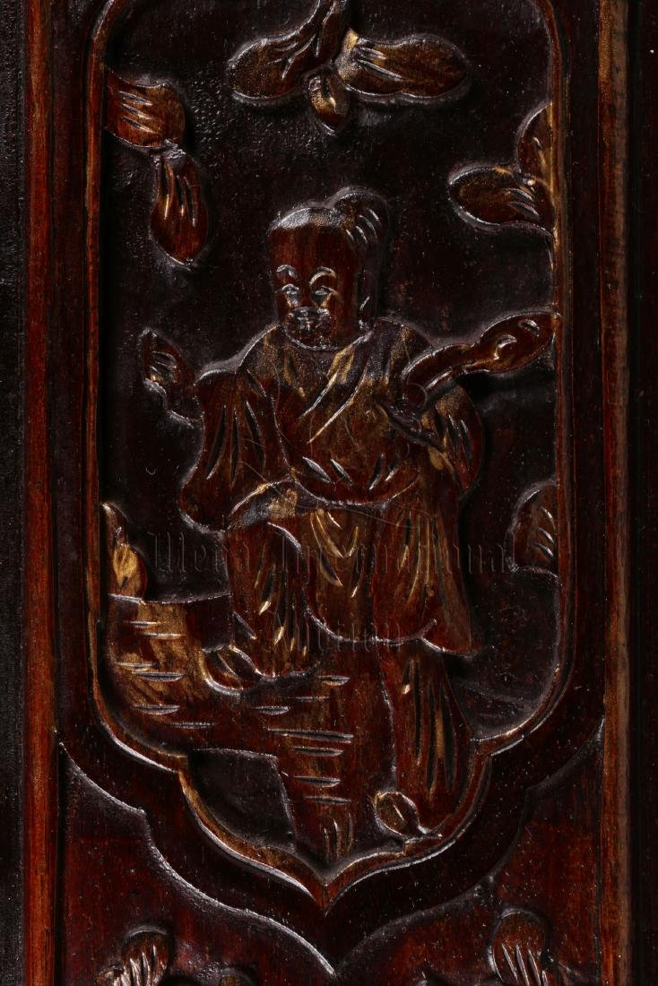 PAIR OF GILT WOOD CARVED 'CHILDREN' PLAQUES - 8