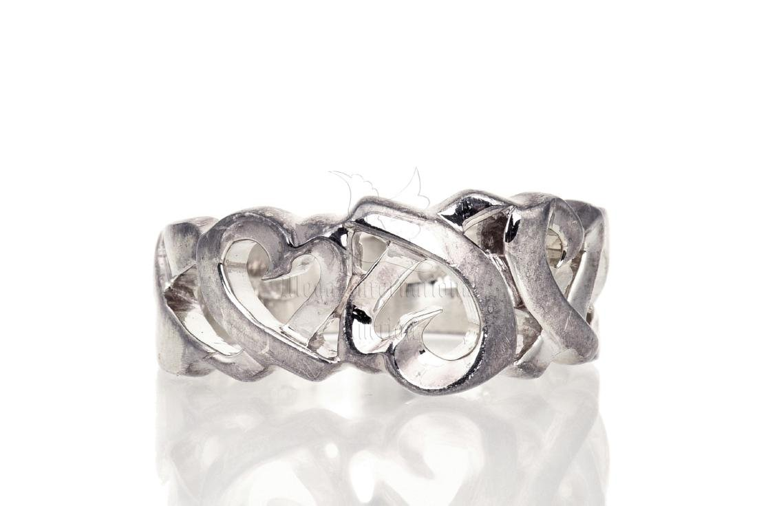 SILVER 'HEART' RING BAND - 2