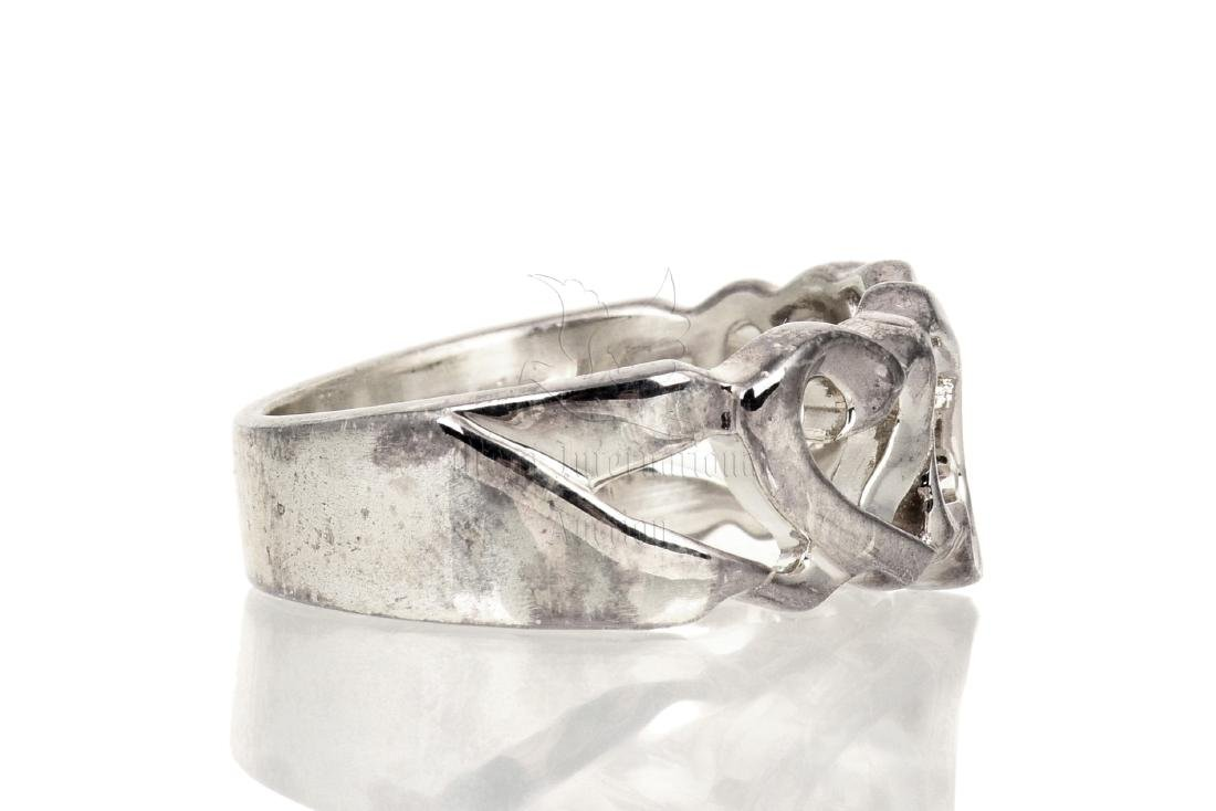 SILVER 'HEART' RING BAND - 3