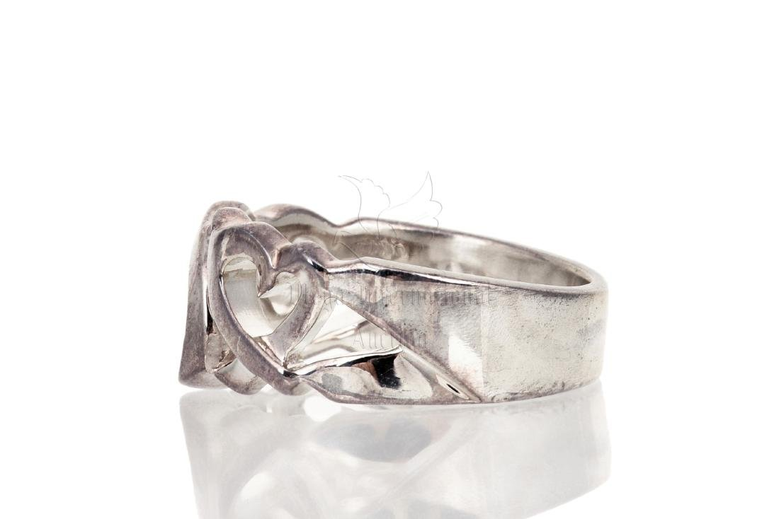 SILVER 'HEART' RING BAND - 4