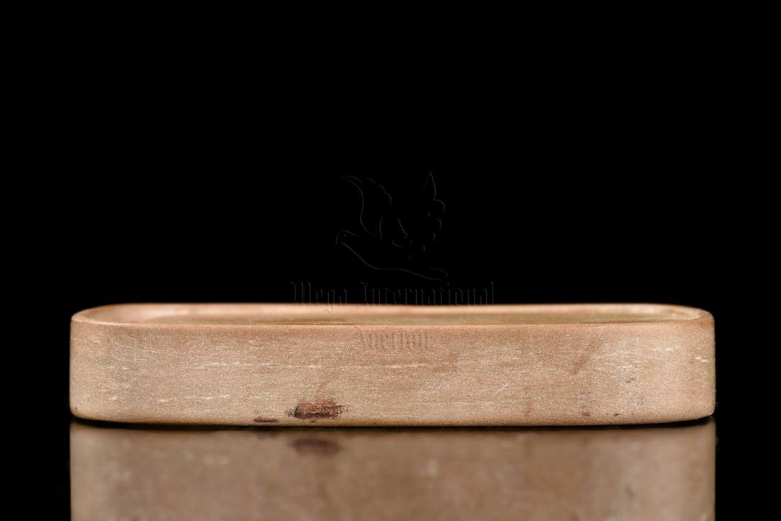 INKSTONE WITH INSCRIPTION AND WOODEN BOX - 6