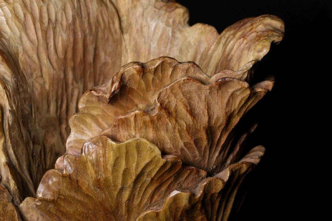 WOOD CARVED 'CHINESE CABBAGE' FIGURE - 6