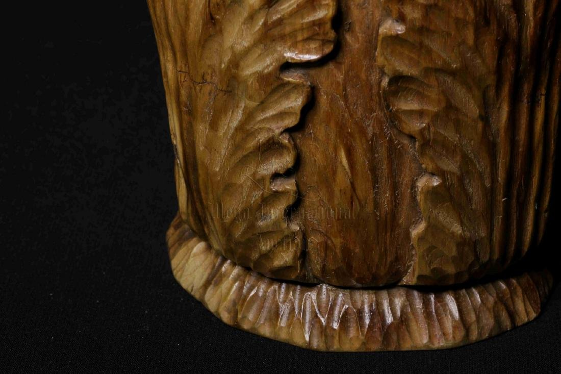 WOOD CARVED 'CHINESE CABBAGE' FIGURE - 7
