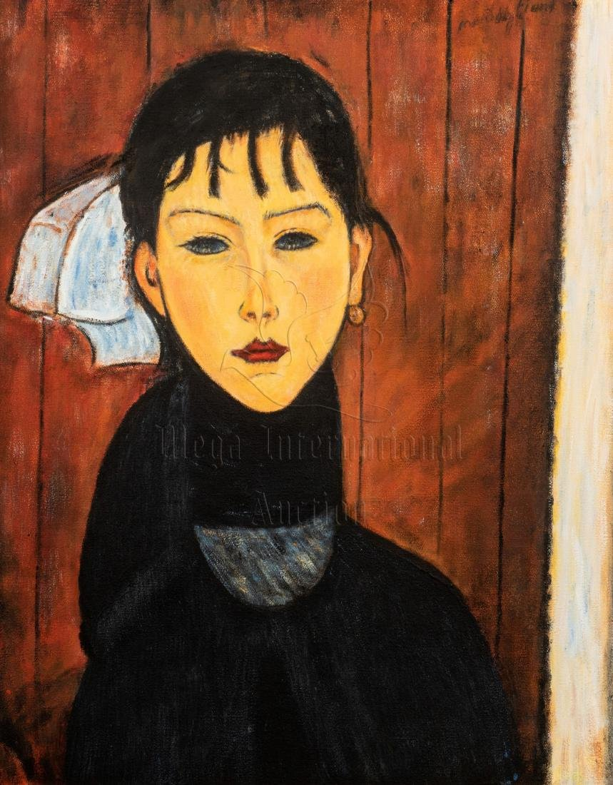AMEDEO MODIGLIANI: FRAMED OIL ON CANVAS PAINTING