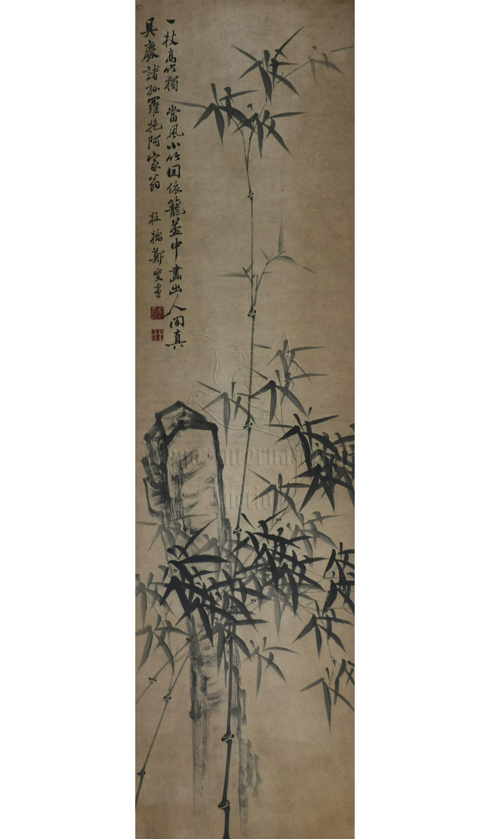ZHENG BANQIAO: INK ON PAPER PAINTING