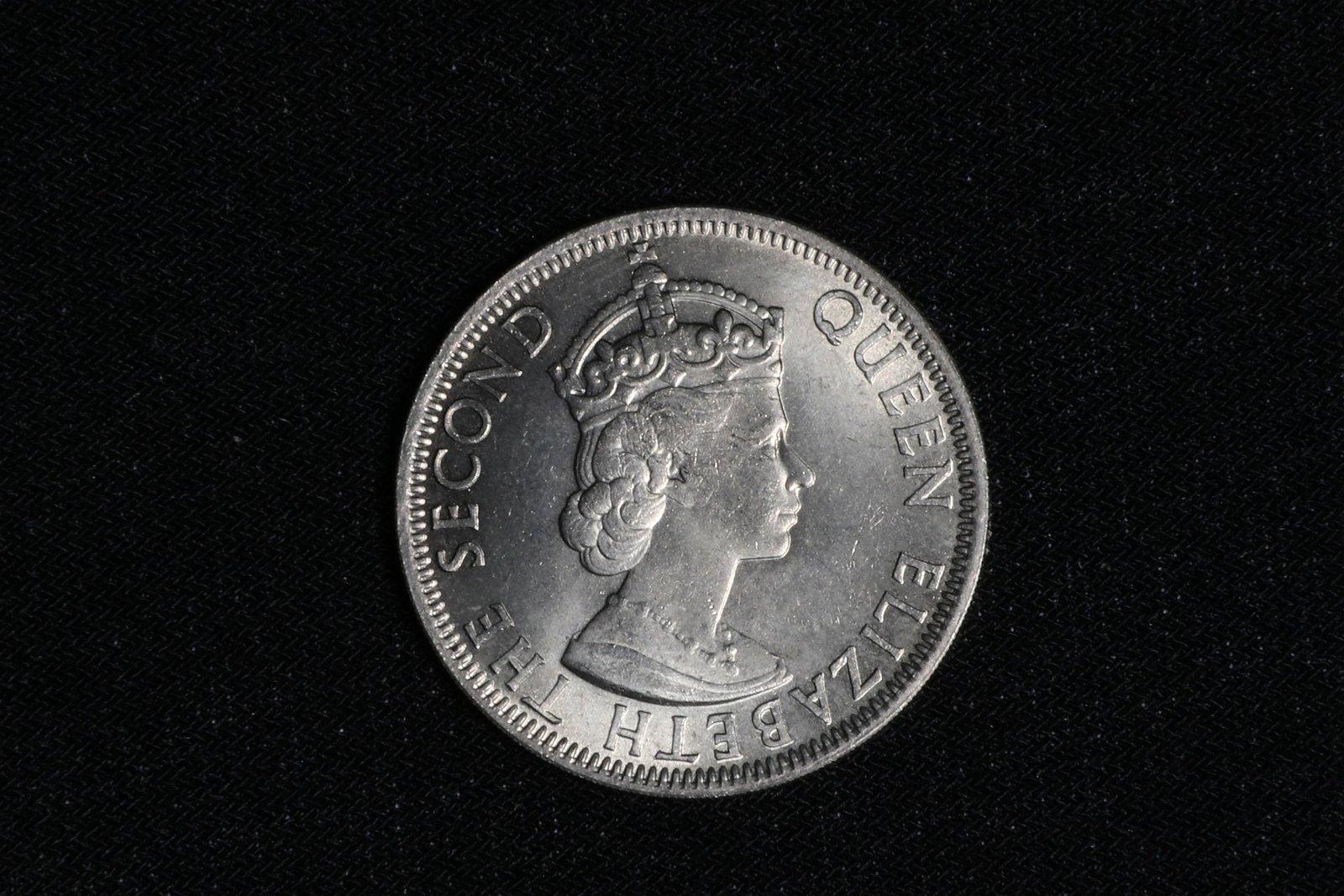 MALAYA AND BRITISH BORNEO 50 CENT COIN, 1961