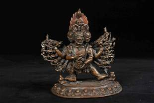 A CHINESE BRONZE BUDDHA STATUE IN THE 17TH CENTURY