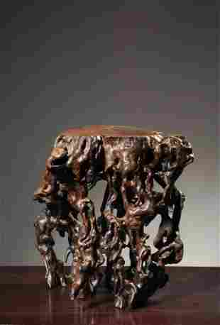 A CHINESE WENGE WOOD SMALL TABLE, QING DYNASTY