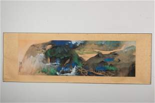 ZHANG DAQIAN: INK AND COLOR ON PAPER HORIZONTAL