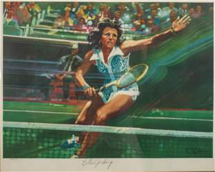 BILLIE JEAN KING LITHOGRAPHY