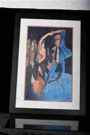 DANCER, WATERCOLOR ON PAPER BY CONCI