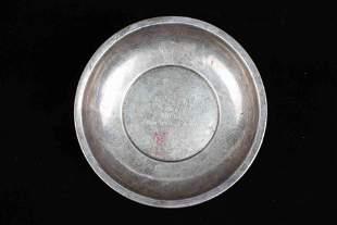 A CHINESE SILVER PLATE, REPUBLIC PERIOD