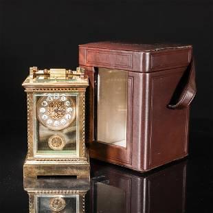 GILT BRONZE CAST CLOCK