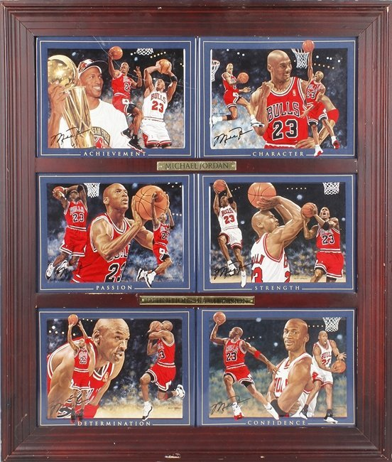 A SOUVENIR PICTURE SET OF MICHAEL JORDAN