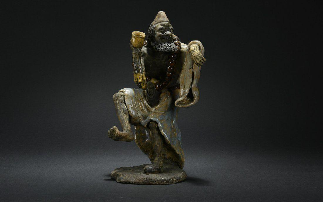 SHIWAN PORCELAIN SCULPTURE OF BODHIDHARMA