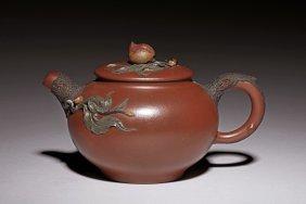 Yixing Zisha 'peach' Teapot