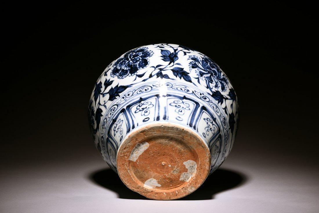 BLUE AND WHITE 'PEONY' JAR - 4
