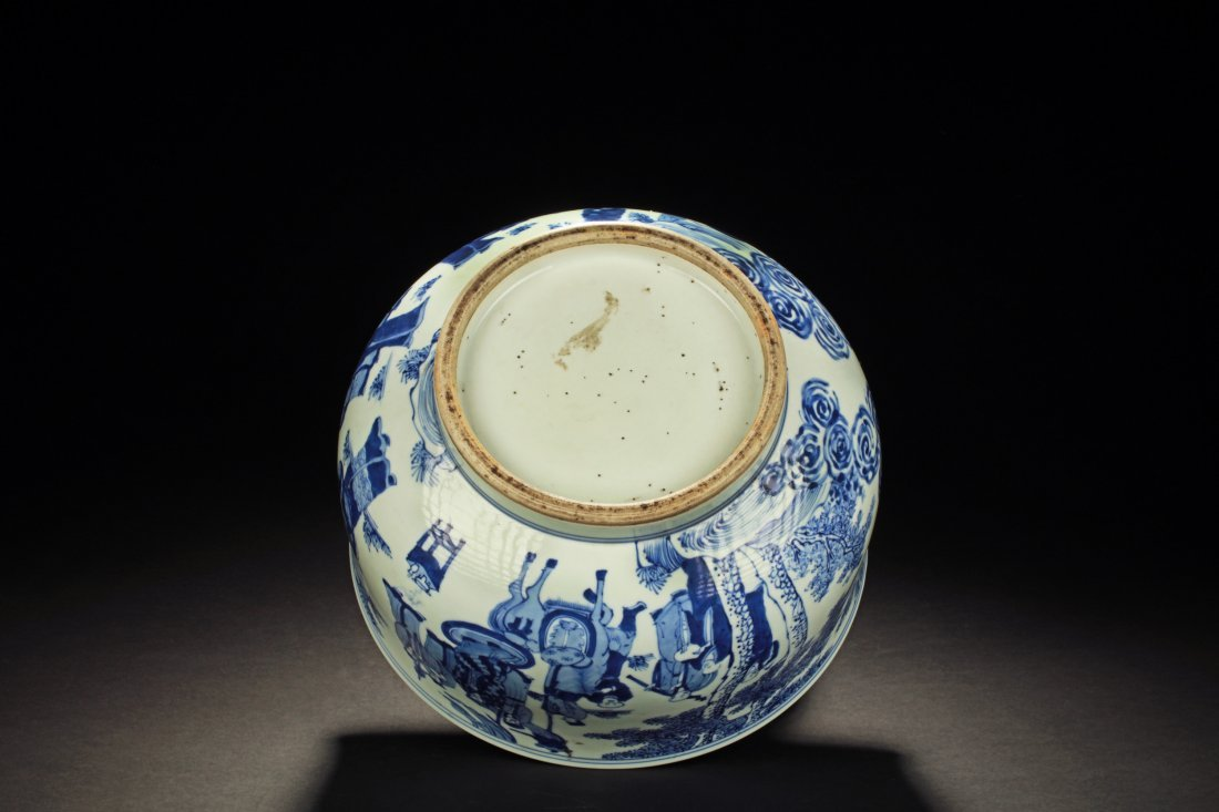 BLUE AND WHITE 'PEOPLE' CENSER - 4