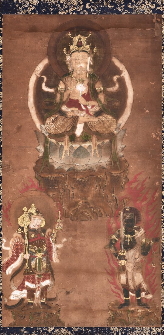 INK AND ON PAPER 'GUANYIN' PAINTING - 2