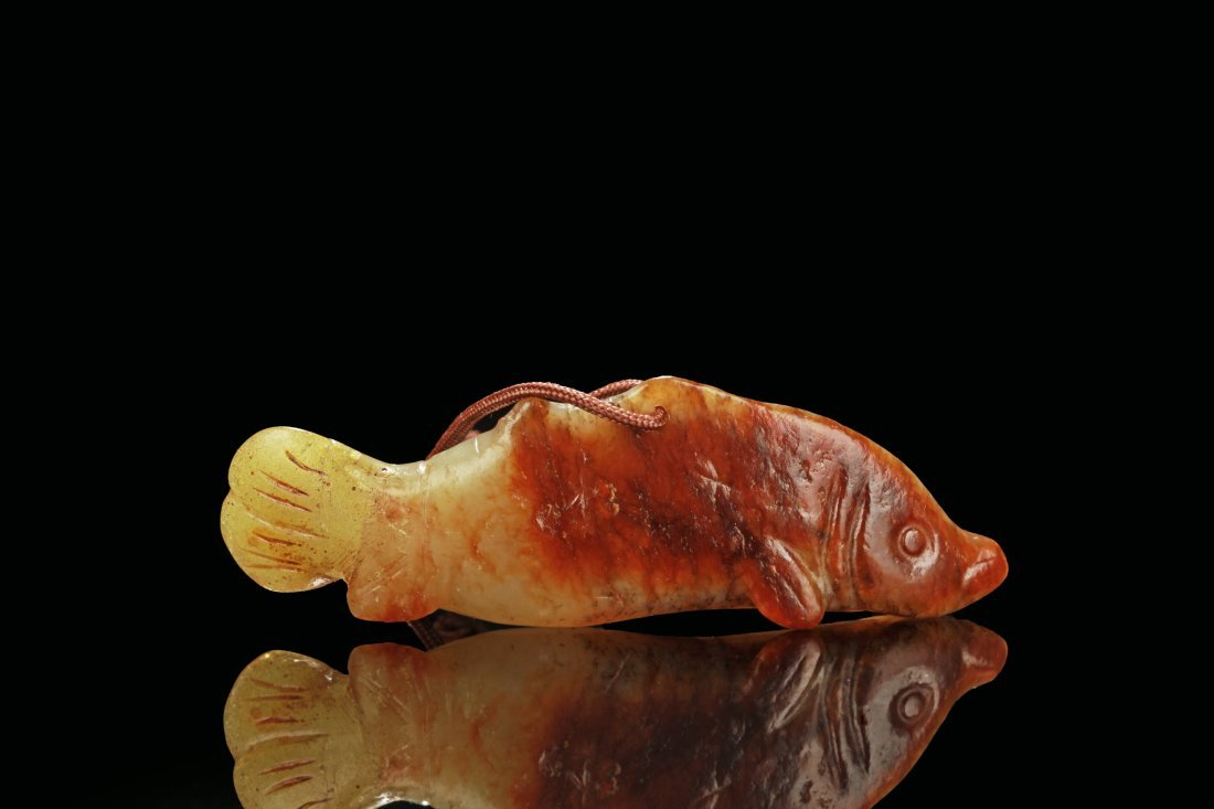 JADE CARVED 'FISH' ORNAMENT