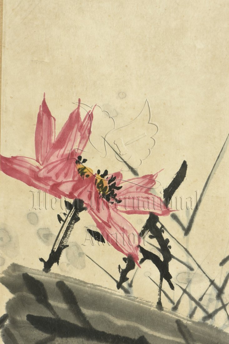 PAN TIANSHOU: FRAMED INK AND COLOR ON PAPER PAINTING - 2