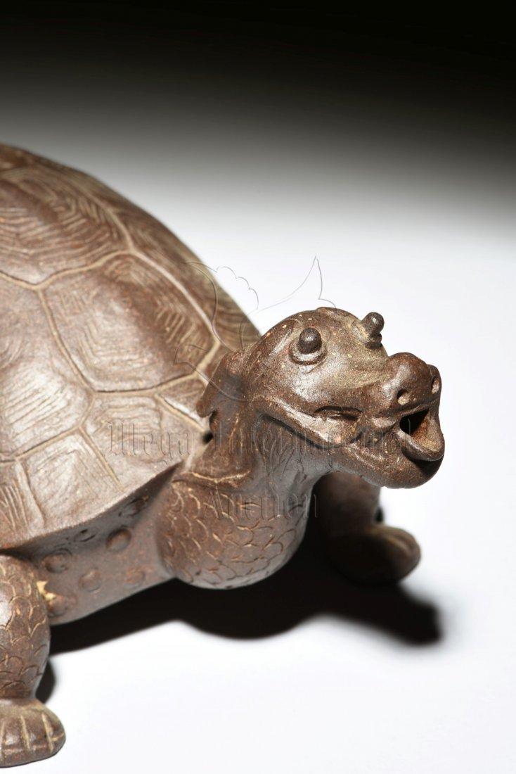 YIXING ZISHA 'DRAGON TURTLE' TEAPOT - 4
