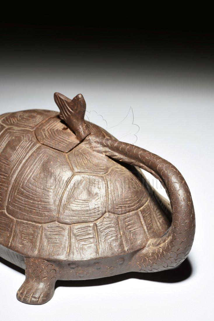YIXING ZISHA 'DRAGON TURTLE' TEAPOT - 5