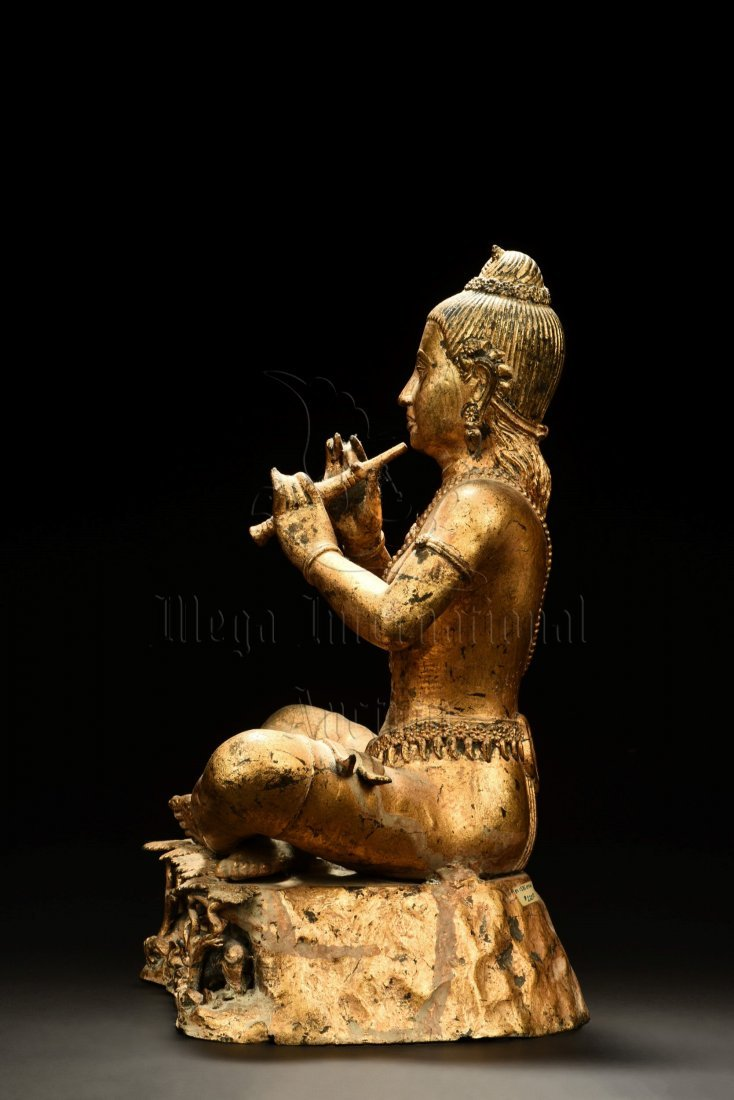 GILT BRONZE SEATED BUDDHA FIGURE - 2