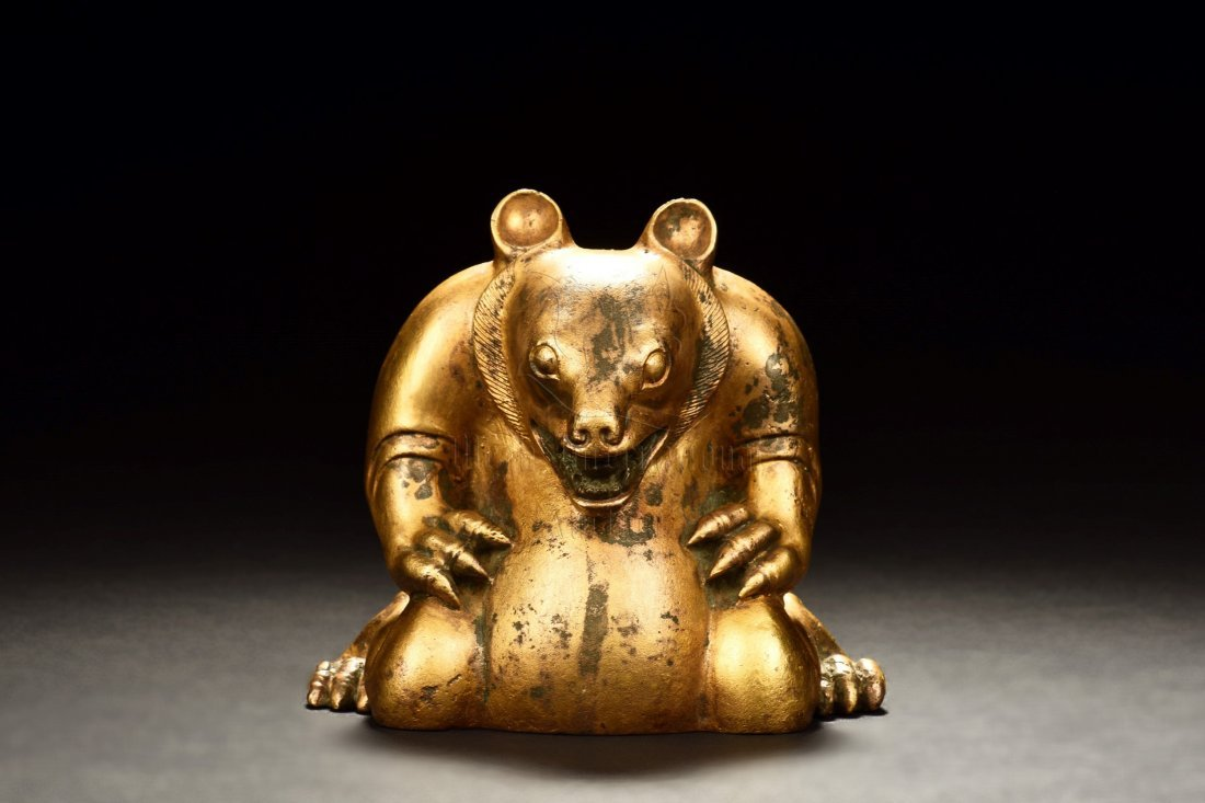 GILT BRONZE BEAR FIGURE