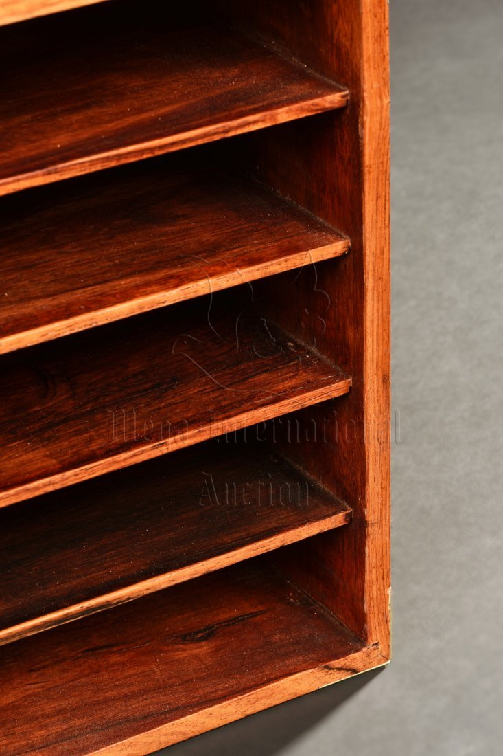 PAIR OF HUANGHUALI WOOD TIERED SMALL BOXES - 5
