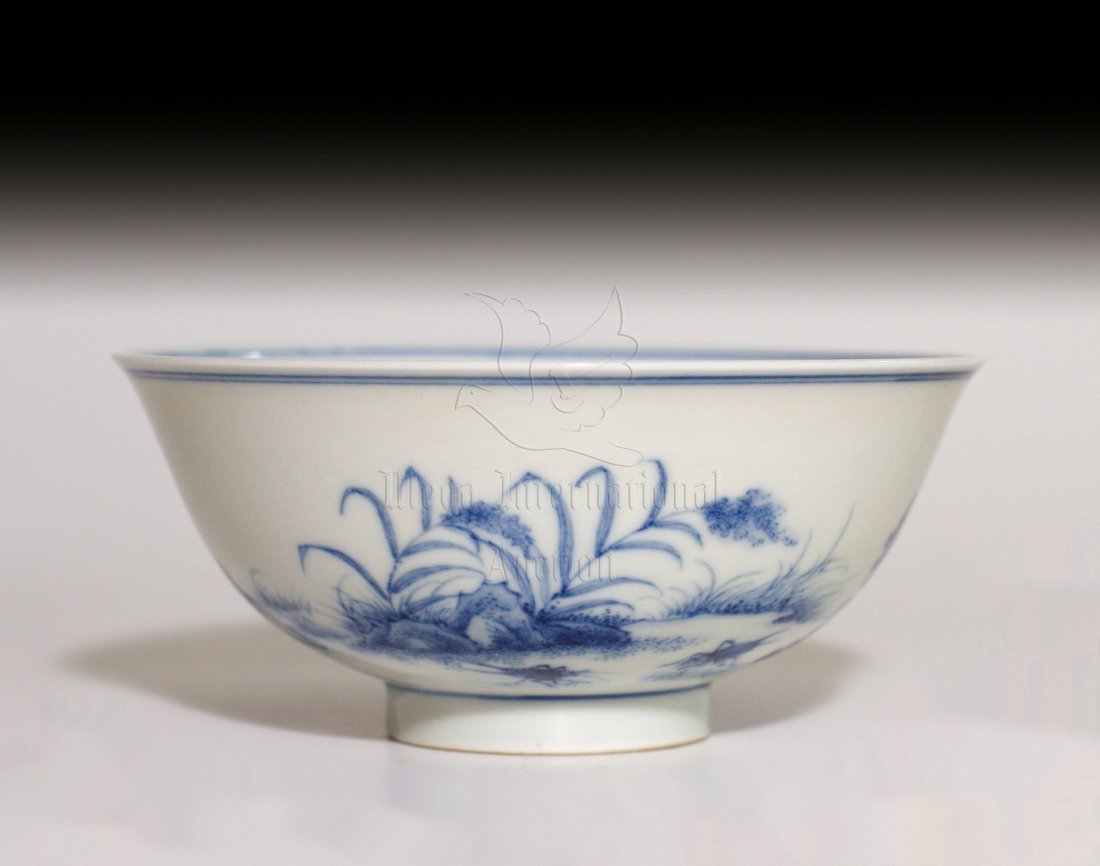 BLUE AND WHITE 'FLOWERS' BOWL - 2