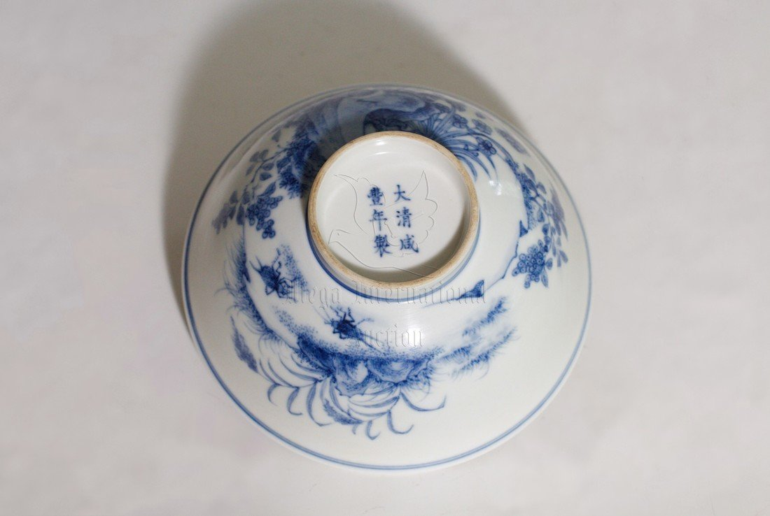 BLUE AND WHITE 'FLOWERS' BOWL - 3