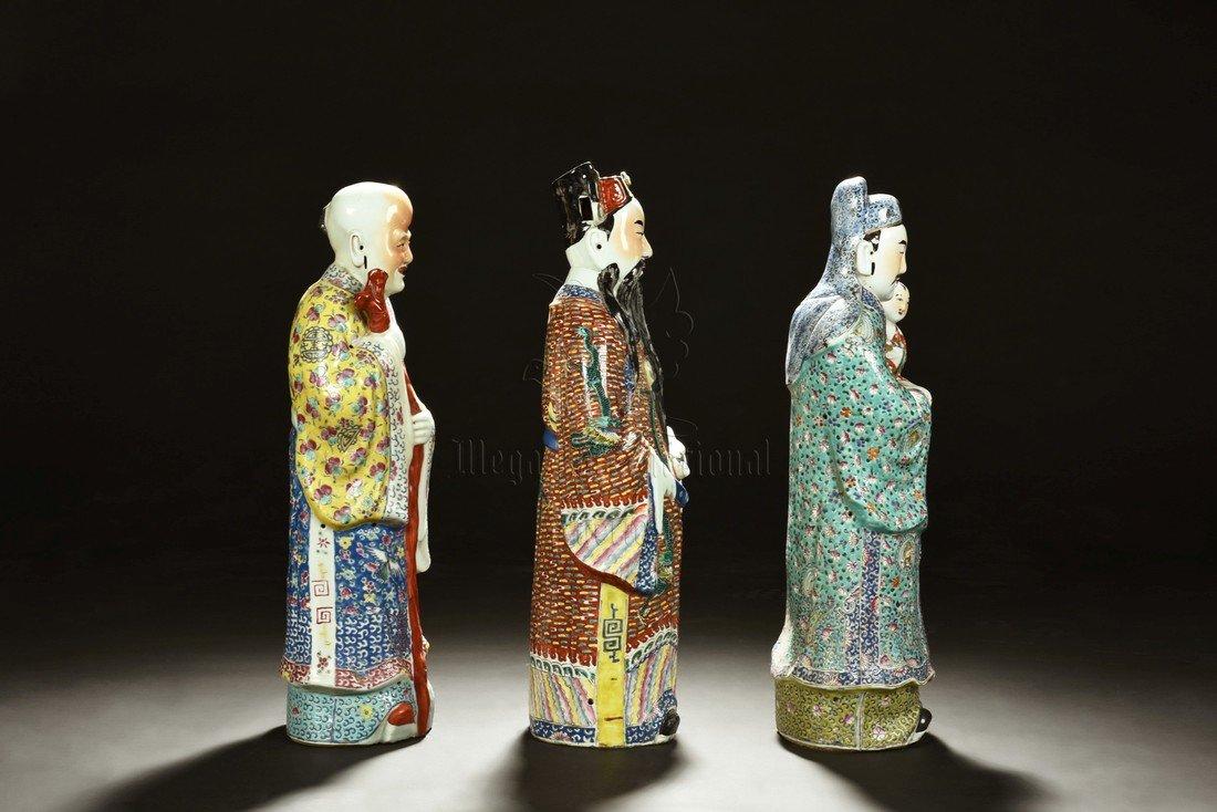 SET OF THREE PORCELAIN FU LU SHOU FIGURES - 2