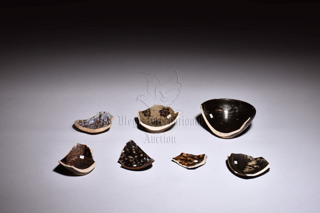 GROUP OF JIZHOU WARE CERAMIC SHARDS