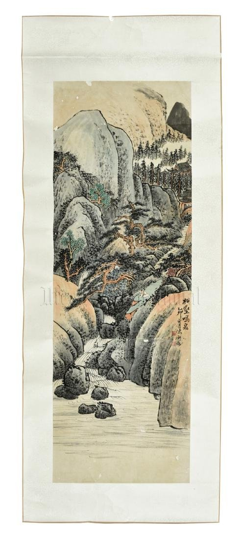 CHEN SHIZENG: INK AND COLOR ON PAPER PAINTING 'MOUNTAIN