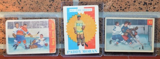 Lot of 3 Old Hockey Cards
