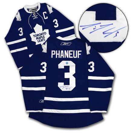 Toronto Maple Leaf Dion Phaneuf Hand Signed  Reebok
