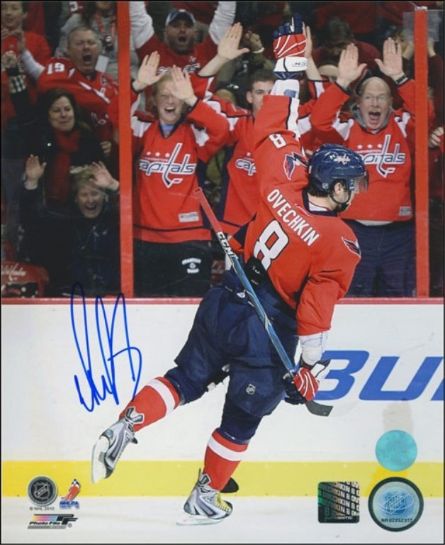 Washington Capitals Hand Signed Alex Ovechkin