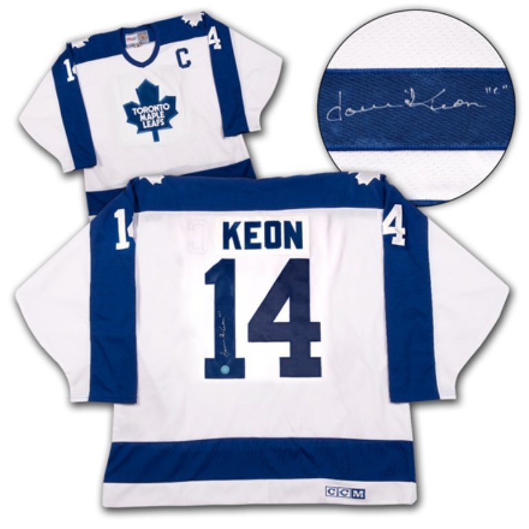 Toronto Maple Leaf Dave Keon Hand Signed  Retro Captain