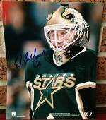 Dallas Stars, 8x10 Photo Hand signed by Ed Belfour