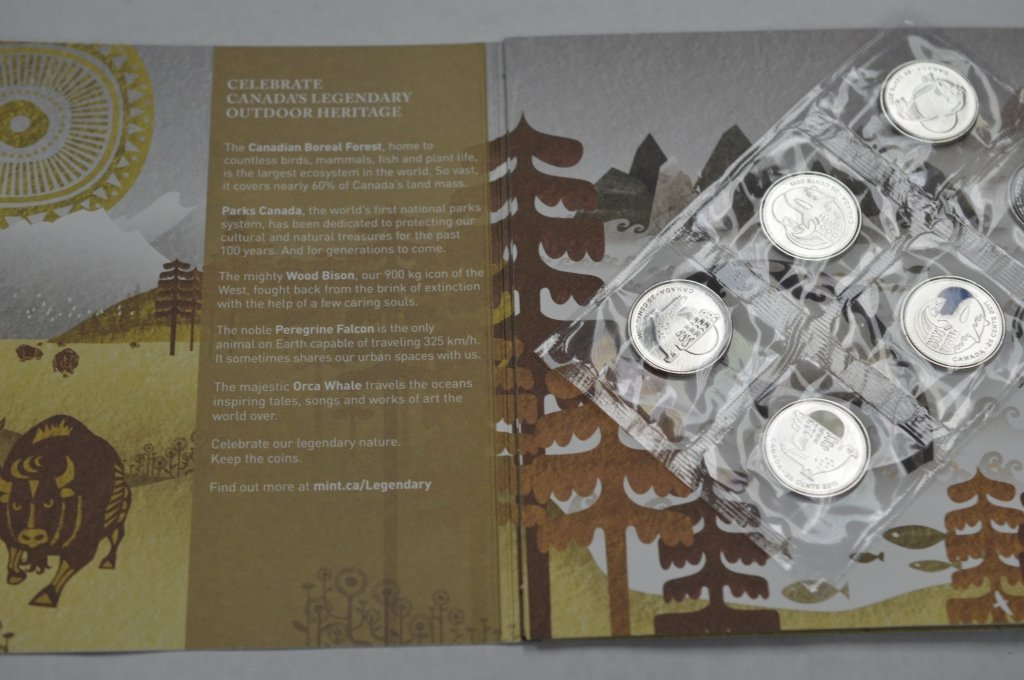 Our Legendary Nature Coins 6 piece Coin Set  with