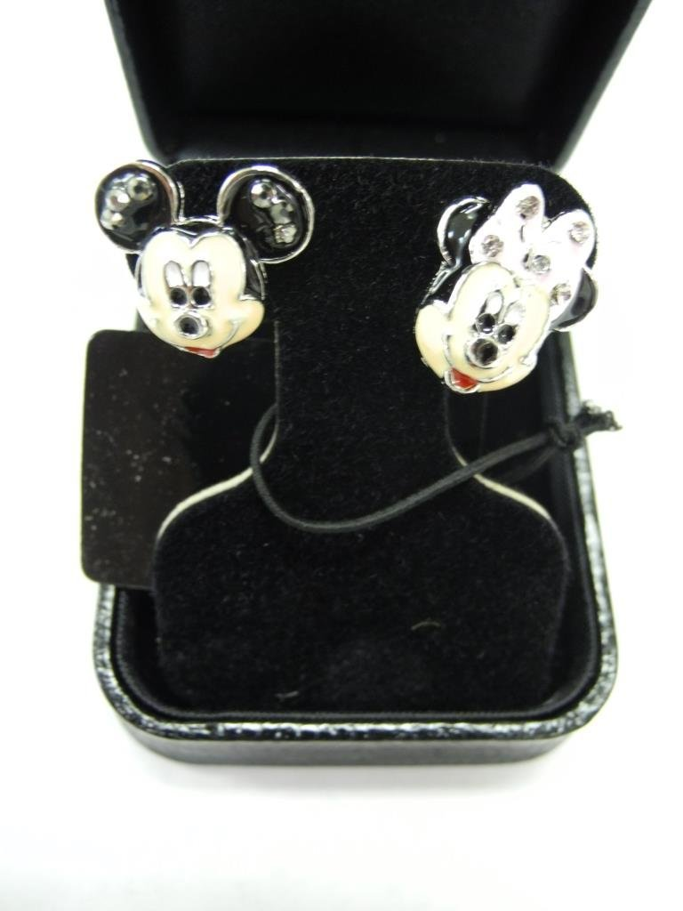 Mickey Mouse & Minnie Mouse Hand Set Enamel  Earrings